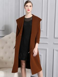 比雨竹女装新款焦糖色大衣