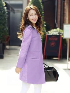 佑芙妮女装浅紫色大衣