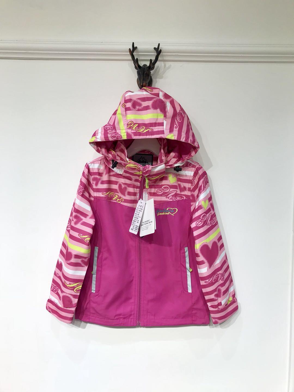 儿童户外迷彩金兰尼亚冲锋衣 品牌折扣童装批发 一手货源走份