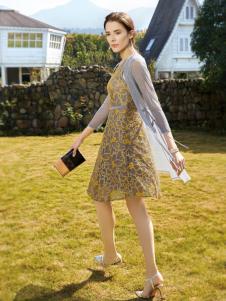 布根香女装唯美雪纺裙
