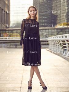 37度Love2018黑色蕾丝裙