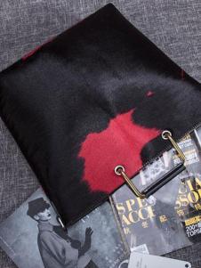 素唯女包2018新款黑色大容量手提包