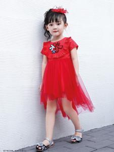 快乐丘比红色新款连衣裙