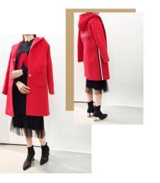 MY中长款红色外套