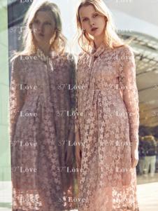37度Love粉色长裙18新款