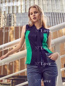 37度Love拼接T恤18新款