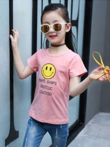 淘气有约童装淘气有约2018童装粉色T恤
