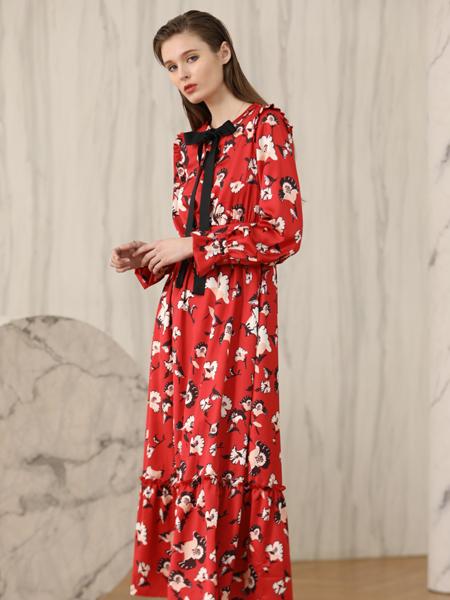 ANOTHER ONE女装18新款印花长裙