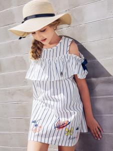 创印象白色连衣裙