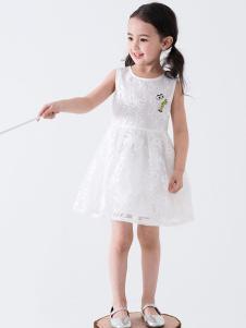 创印象白色新款连衣裙