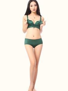 丽诗黛尔内衣新品绿色文胸