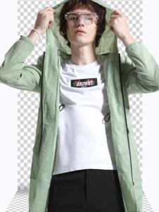 新升流派18新款浅绿色外套