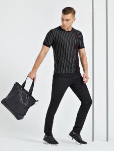 法拉狄奥男装18条纹T恤