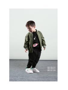 2018春季男童军绿色外套