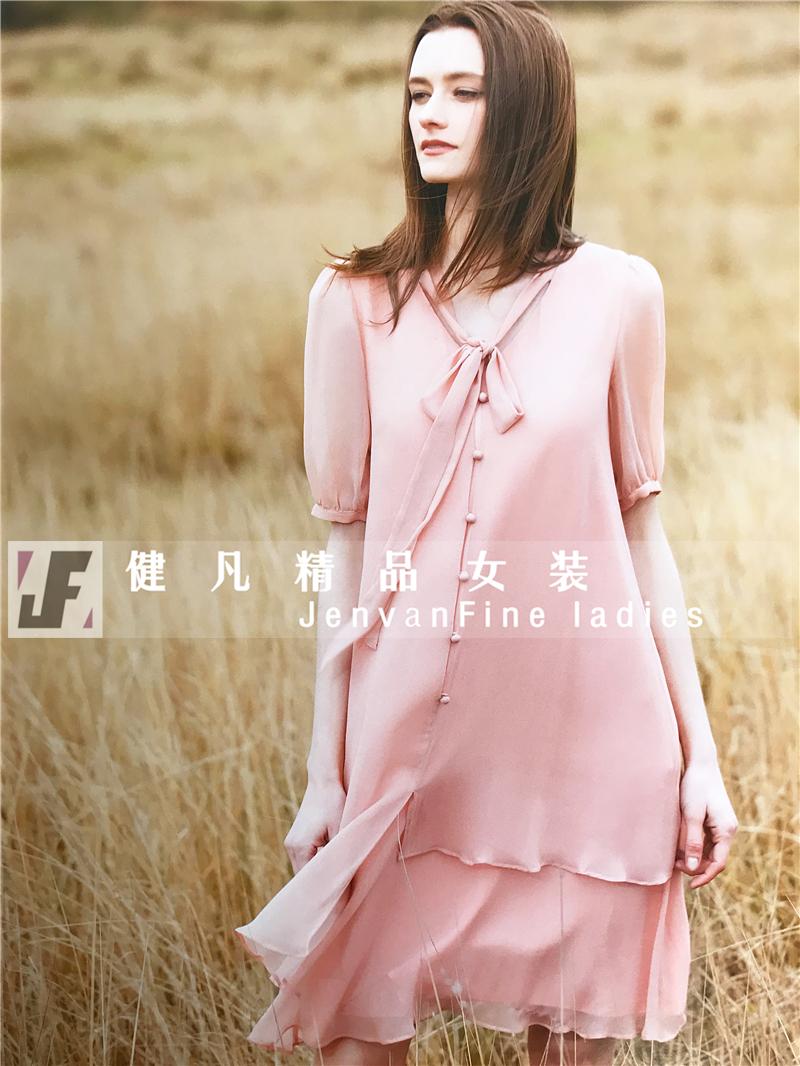 广州石井折扣女装集散地健凡服饰 品牌高端典雅中少淑女装