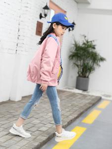 淘淘猫18新款粉色外套