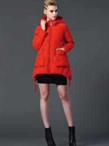 阿伊米女装红色棉衣