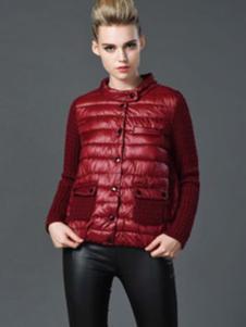 阿伊米女装红色羽绒