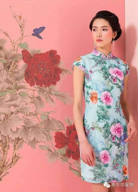 香港品牌萧萍萍旗袍女装尾货批发