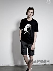 艺术小站男装2018春夏时尚休闲个性印花短袖T恤
