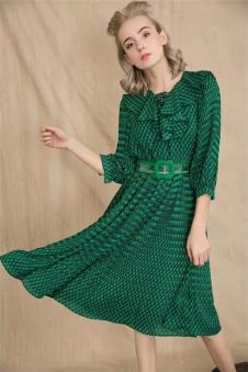 ALSCANA 2018新品绿色连衣裙