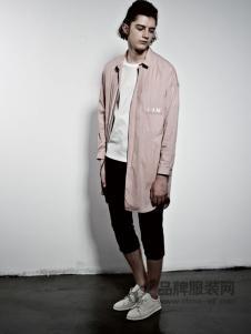 艺术小站男装2018春夏时尚大方长袖开衫衬衣