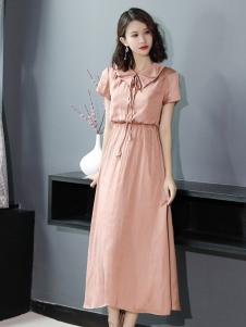 YUSAM雨珊18粉色淑女连衣裙