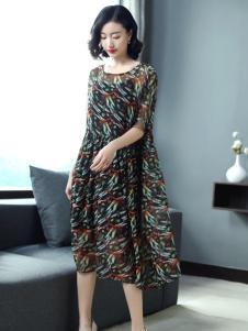 YUSAM雨珊女装2018雪纺连衣裙