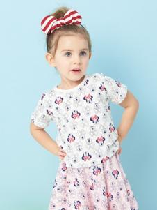 的纯童装时尚新品印花裙