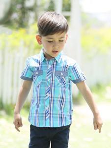 的纯童装时尚新品格子衬衫