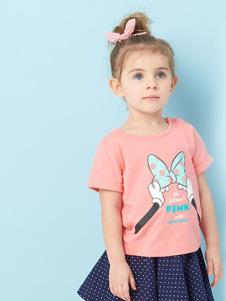 的纯童装时尚新品粉色T