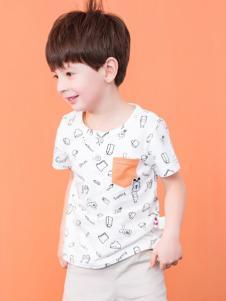 的纯童装时尚新品南通白色T