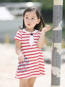 的纯童装时尚新品条纹裙