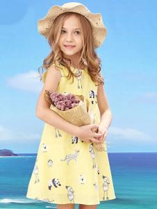 的纯童装时尚新品女童碎花裙