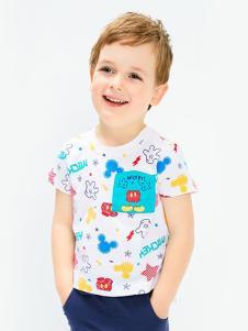 的纯童装时尚新品印花男童T恤