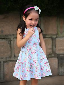 的纯童装时尚新品无袖裙装