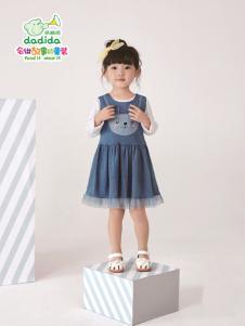 嗒嘀嗒2018新款女童连衣裙