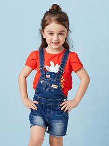 的纯童装时尚新品背带裤