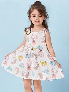 的纯童装时尚新品无袖碎花