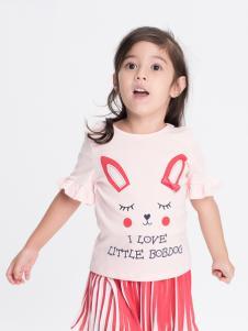 的纯童装时尚新品粉色可爱T