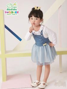 嗒嘀嗒2018女童新款连衣裙