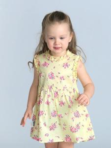 的纯童装时尚新品亮色裙装