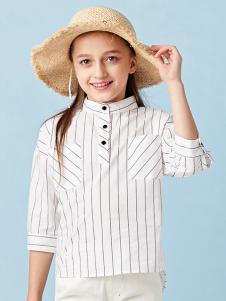 的纯童装时尚新品条纹衬衫