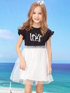 的纯童装时尚新品黑白裙装