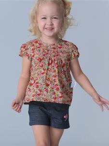 的纯童装时尚新品波点上衣