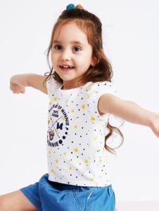 的纯童装时尚新品白色点点
