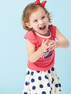 的纯童装时尚新品女童T恤