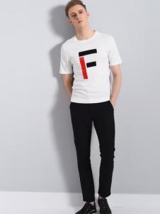 恩咖UNKUT18新款白色T恤