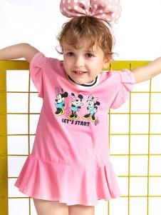 的纯童装时尚新品粉色裙