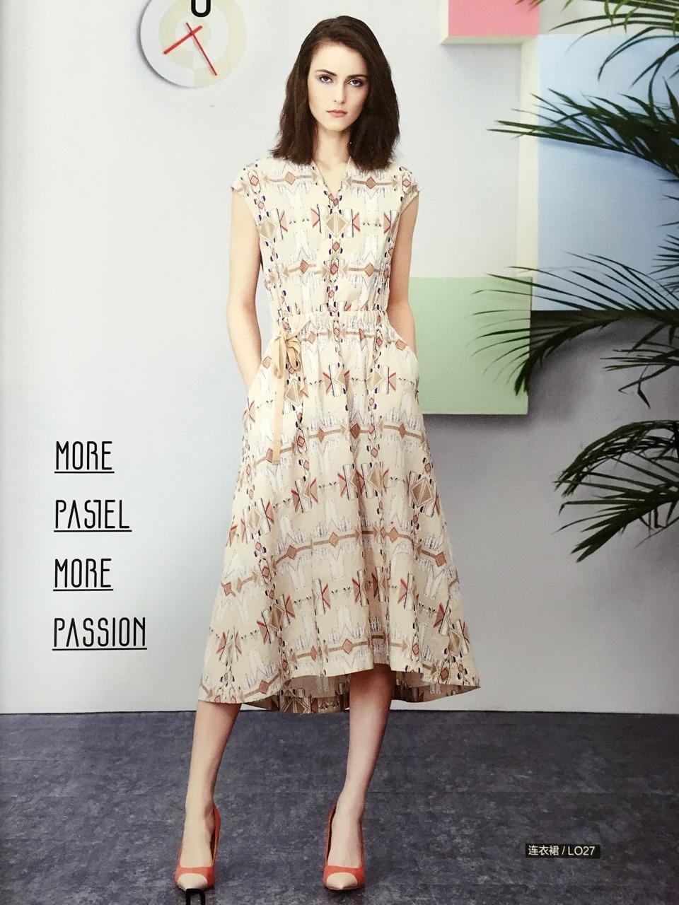 简单主题17女装加盟歌迪利尔唯品会品牌折扣女装广州女装拿货